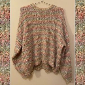 NWOT Forever 21 Rainbow Sparkle Sweater 🌈❇️